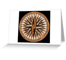 Vintage Compass. Greeting Card