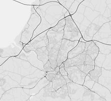 Bristol, England Map. (Black on white) by Graphical-Maps