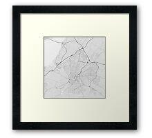 Bristol, England Map. (Black on white) Framed Print