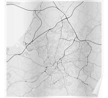 Bristol, England Map. (Black on white) Poster