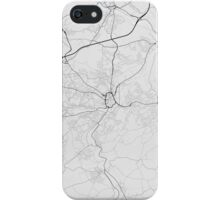 Huddersfield, England Map. (Black on white) iPhone Case/Skin