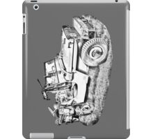 Willys World War Two Army Jeep Illustration iPad Case/Skin
