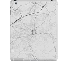 Huddersfield, England Map. (Black on white) iPad Case/Skin