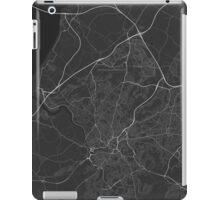 Bristol, England Map. (White on black) iPad Case/Skin