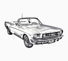 1965 Red Ford Mustang Convertible Drawing Kids Clothes