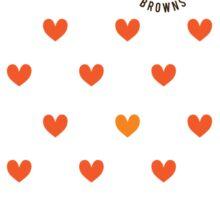 CLE Browns Love Sticker