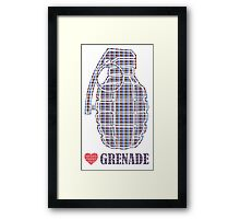 Love Grenade Framed Print