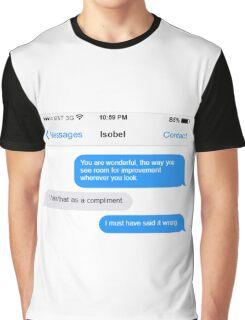 Dowager Texts: Violet burns Mrs. Crawley  Graphic T-Shirt