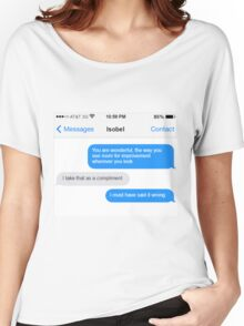 Dowager Texts: Violet burns Mrs. Crawley  Women's Relaxed Fit T-Shirt