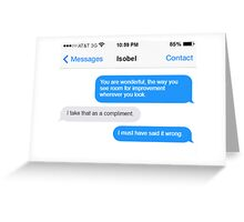 Dowager Texts: Violet burns Mrs. Crawley  Greeting Card