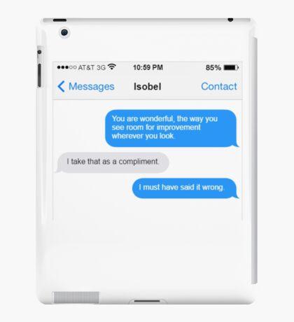 Dowager Texts: Violet burns Mrs. Crawley  iPad Case/Skin