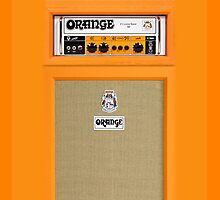 Orange Electric Guitar Amp amplifier by Johnny Sunardi