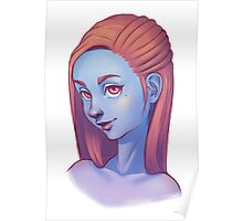 Blue Skin and Rose Hair Poster