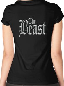 The Beast, Wild, Savage, Uncontrollable. Grey Women's Fitted Scoop T-Shirt
