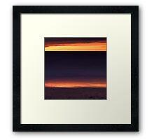 Beautiful golden sunset reflecing in the shore line of lake Huron art photo print Framed Print