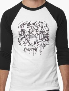 Psychedelic Twisted Lines Men's Baseball ¾ T-Shirt