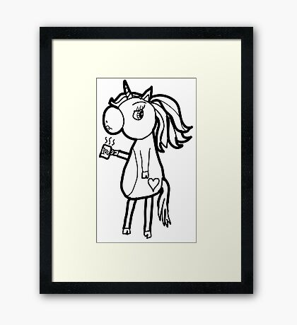 The Grumpy Unicorn Framed Print