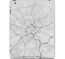 Leeds, England Map. (Black on white) iPad Case/Skin