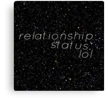 Relationshipstatus: Canvas Print