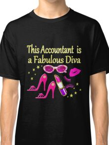 PINK FABULOUS ACCOUNTANT DIVA DESIGN Classic T-Shirt
