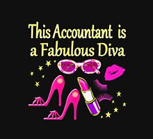 PINK FABULOUS ACCOUNTANT DIVA DESIGN Women's Fitted Scoop T-Shirt