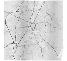 Leicester, England Map. (Black on white) Poster