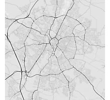 Leicester, England Map. (Black on white) Photographic Print