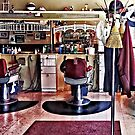 Barbershop With Coat Rack by Susan Savad