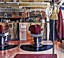 Barbershop With Coat Rack by Susan Savad