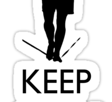 Keep Calm and Slackline Sticker