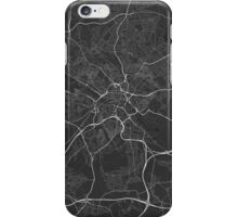 Leeds, England Map. (White on black) iPhone Case/Skin