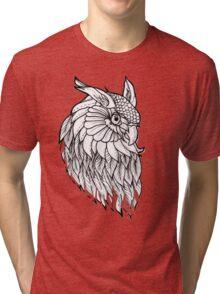 Owl Flash  Tri-blend T-Shirt