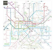 London tube map Photographic Print