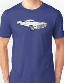 1975 Cadillac Eldorado Convertible Illustration T-Shirt
