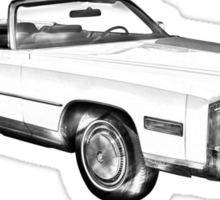 1975 Cadillac Eldorado Convertible Illustration Sticker