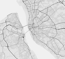 Liverpool, England Map. (Black on white) by Graphical-Maps