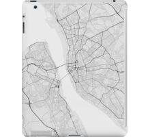 Liverpool, England Map. (Black on white) iPad Case/Skin