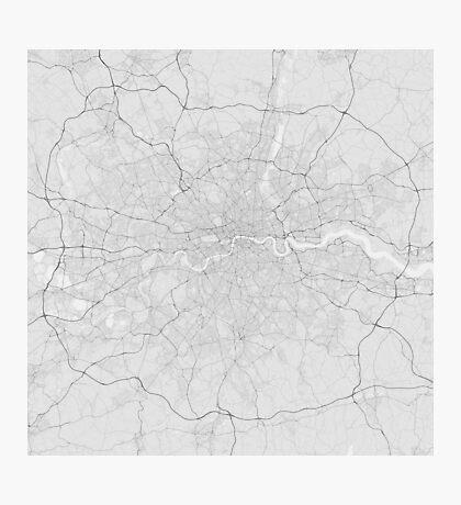 London, England Map. (Black on white) Photographic Print
