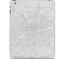 London, England Map. (Black on white) iPad Case/Skin