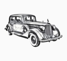 Packard Luxury Antique Car Illustration Kids Clothes