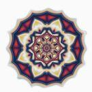 Mandala kaleidoscope geometric fractal symbol 1 by Leah McNeir