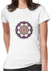 Mandala kaleidoscope geometric fractal symbol 1 Womens Fitted T-Shirt