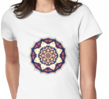 Mandala kaleidoscope geometric fractal symbol 1 Womens Fitted T-Shirt