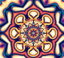 Mandala kaleidoscope geometric fractal symbol 1 Sticker