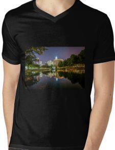 Charlotte North Carolina Mens V-Neck T-Shirt