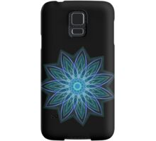 Fractal Flower - Blue Samsung Galaxy Case/Skin