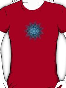 Fractal Flower - Blue T-Shirt