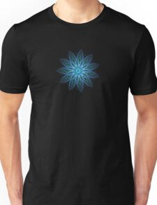Fractal Flower - Blue Unisex T-Shirt