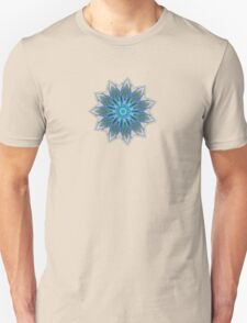 Fractal Flower - Blue T-Shirt