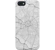 Manchester, England Map. (Black on white) iPhone Case/Skin